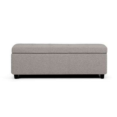 Castleford Cloud Grey Large Storage Ottoman Bench