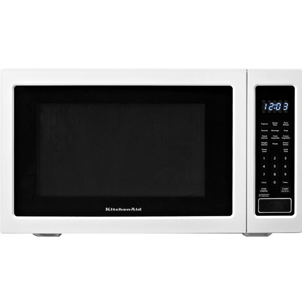 Kitchenaid Architect Series Ii 1 6 Cu Ft Countertop Microwave In White Built