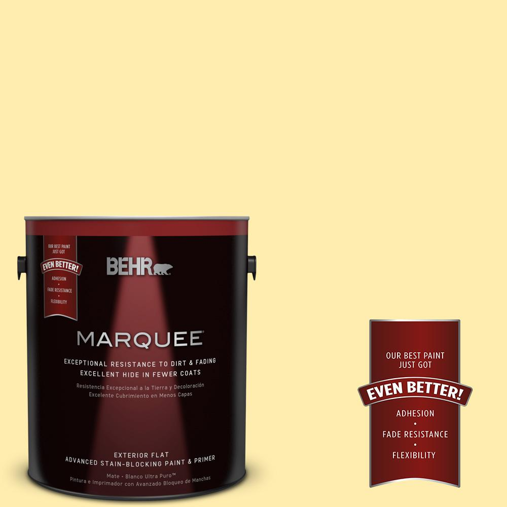 1-gal. #370A-2 Pale Daffodil Flat Exterior Paint