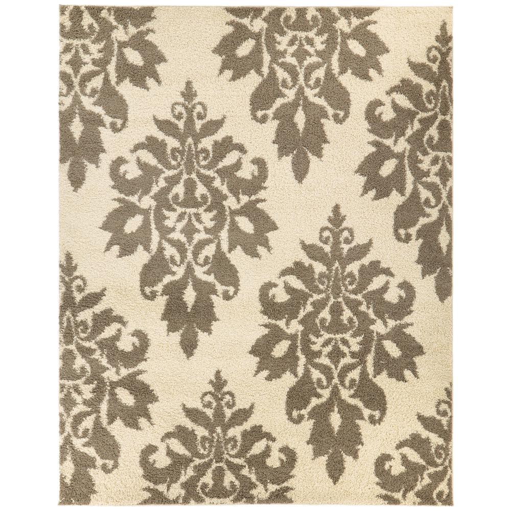 Meadow Damask Ivory 7 ft. 10 in. x 10 ft. Area
