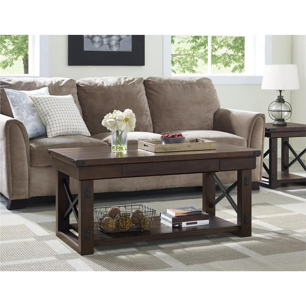 Wildwood Mahogany Storage Coffee Table