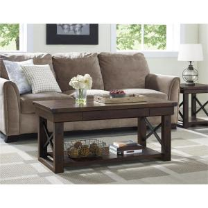Altra Furniture Wildwood Mahogany Storage Coffee Table by Altra Furniture