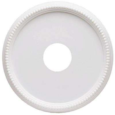 16 in. Beaded White Finish Ceiling Medallion