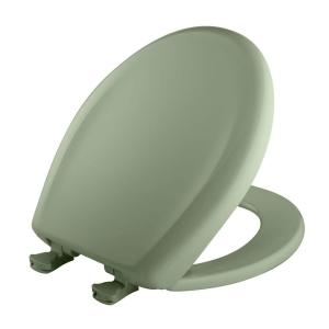 Bemis Slow Close STA-TITE Round Closed Front Toilet Seat in Bayberry by BEMIS