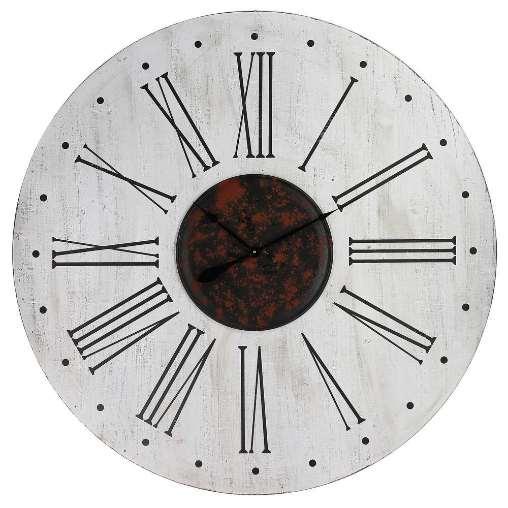 Yosemite Home Decor Nordic Style White Black And Red Wall Clock