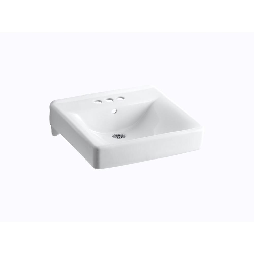 kohler wall mount bathroom sink kohler soho wall mount vitreous china bathroom sink in 23590