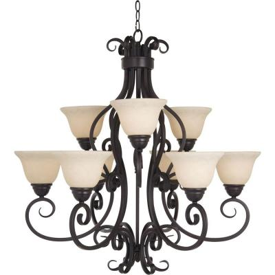 Manor 9-Light Oil Rubbed Bronze Chandelier