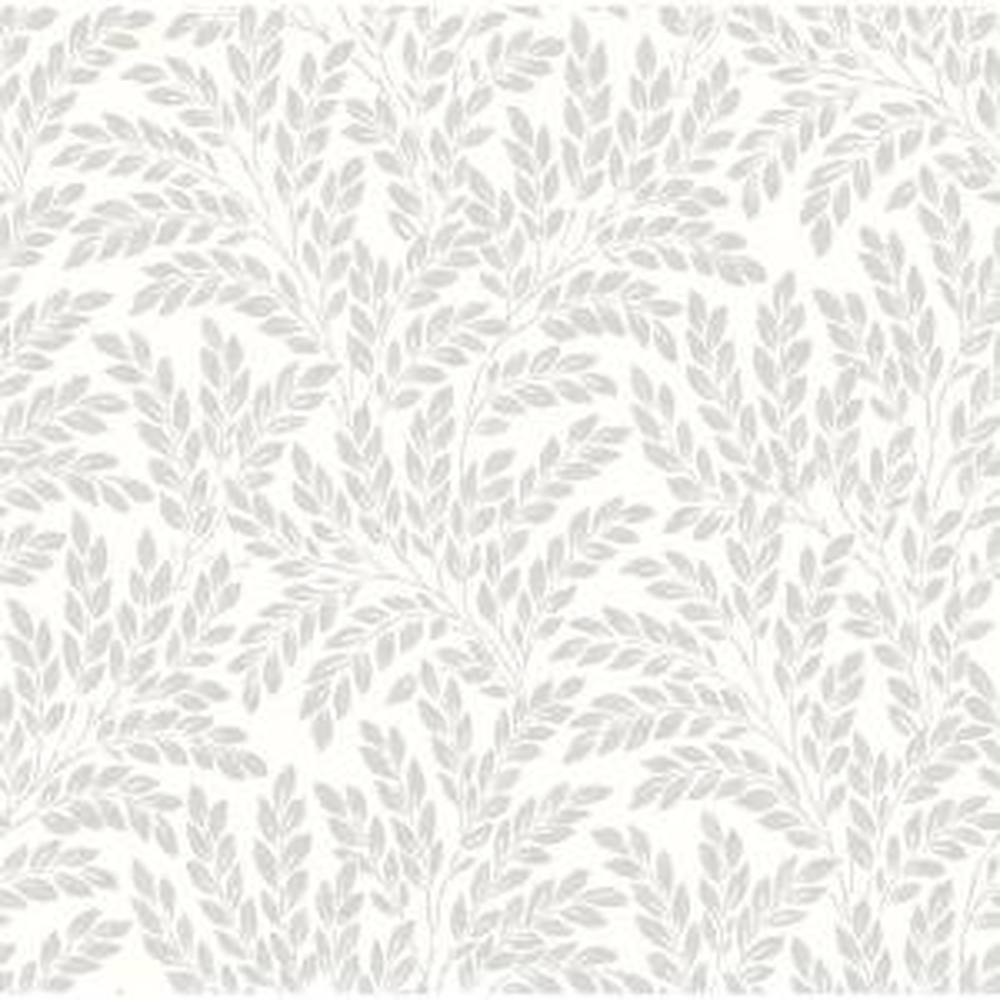 Soft White Jade Leaf Wallpaper
