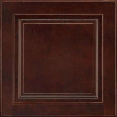 14-9/16x14-1/2 in. Cabinet Door Sample in Portola Cherry Bordeaux