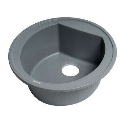 Drop-In Granite Composite 20 in. 1-Hole Single Bowl Kitchen Sink in Titanium