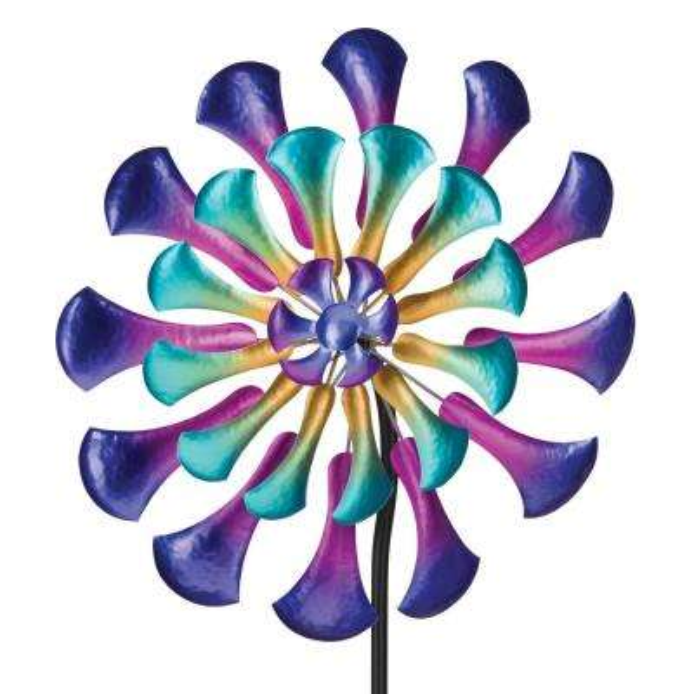 26 in. Wind Spinner Flower