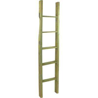 19 in. x 36 in. x 3 1/2 in. Barnwood Decor Collection Pebble Grey Vintage Farmhouse 2-Rung Ladder