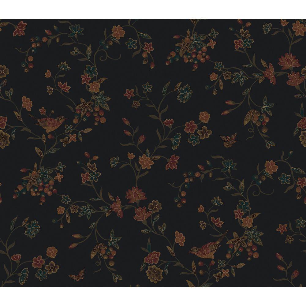 The Wallpaper Company 8 in. x 10 in. Noir Imperial Silk Wallpaper Sample