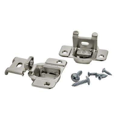 1/2in (13 mm) Overlay Matrix Concealed Nickel Hinge - 2 Pack