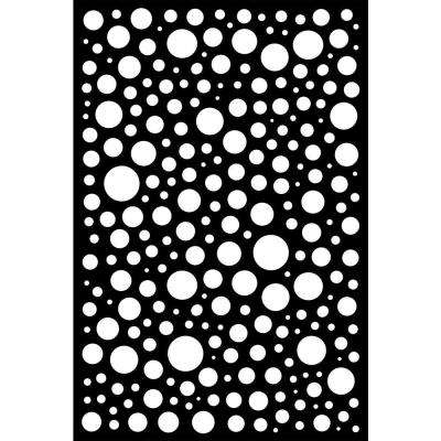Bubbles 0.6 in. x 71.6 in. x 3.95 ft. Recycled Plastic Decorative Screen with Slimline Frame in Charcoal (Bundle of 5)