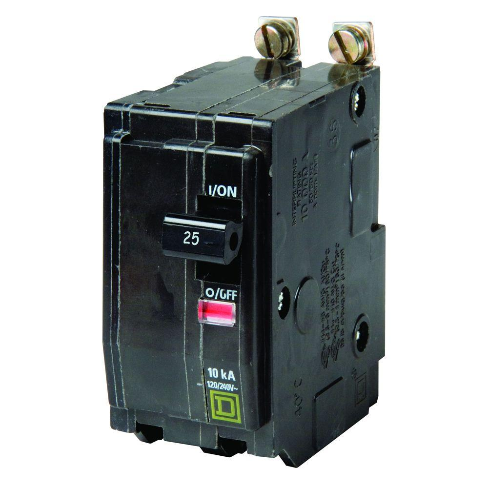 Square D Qo 100 Amp 2 Pole Circuit Breaker Qo2100cp The Home Depot A Electrical Panel Wiring Diagram 25 Bolt On