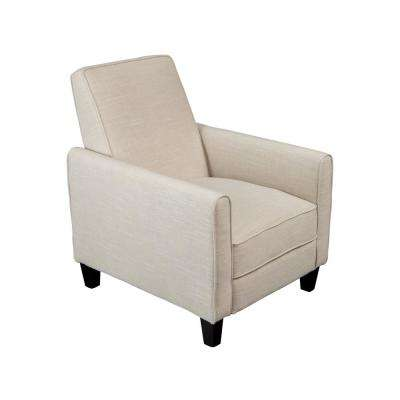 Darvis Light Beige Fabric Recliner Club Chair