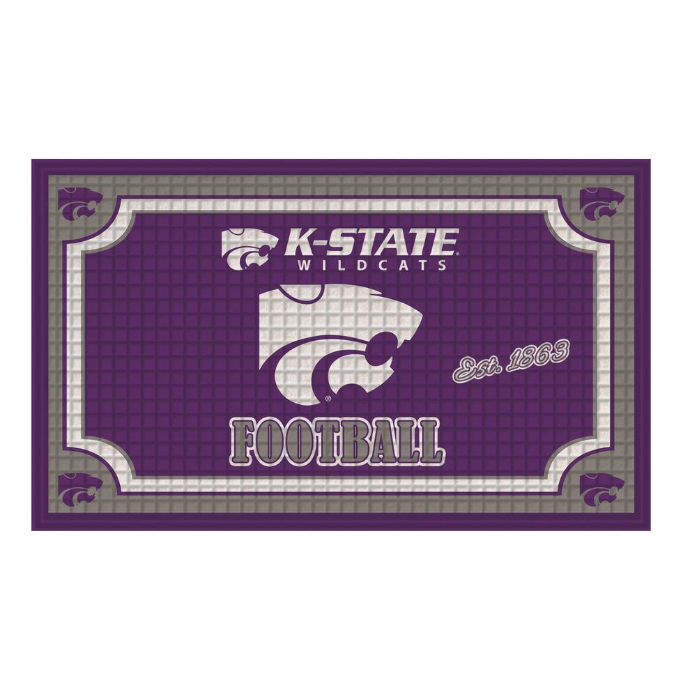 Kansas State University 18 in. x 30 in. Embossed Welcome Mat