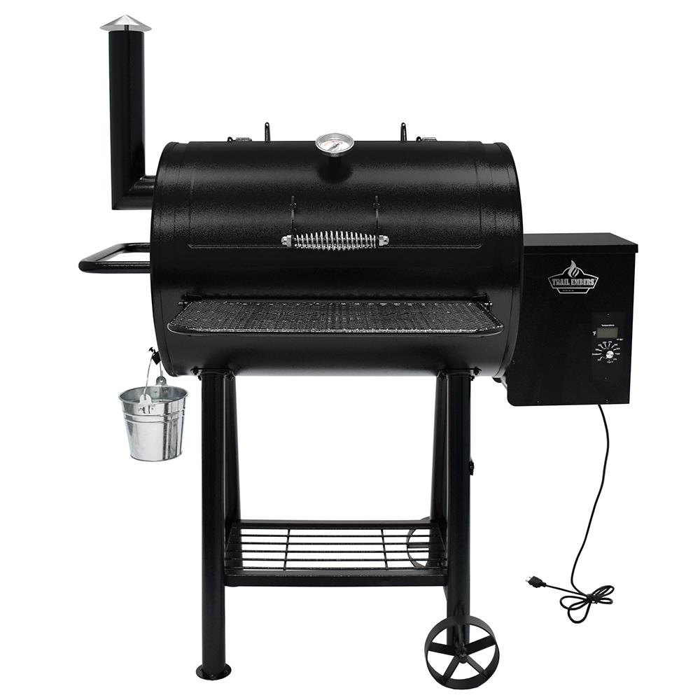 trail embers pellet smoker and grill smk8028as the home depot rh homedepot com Traeger BBQ Smoker Wiring Traeger BBQ Smoker Wiring