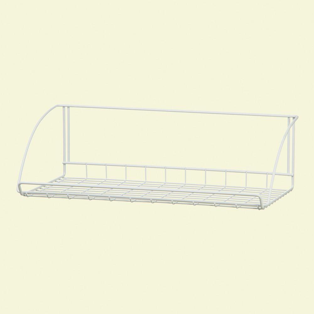 Attirant ClosetMaid 24 In. White Versatile Hanging Shelf