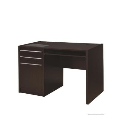 Cappuccino Ontario Single Pedestal Computer Desk with Charging Station