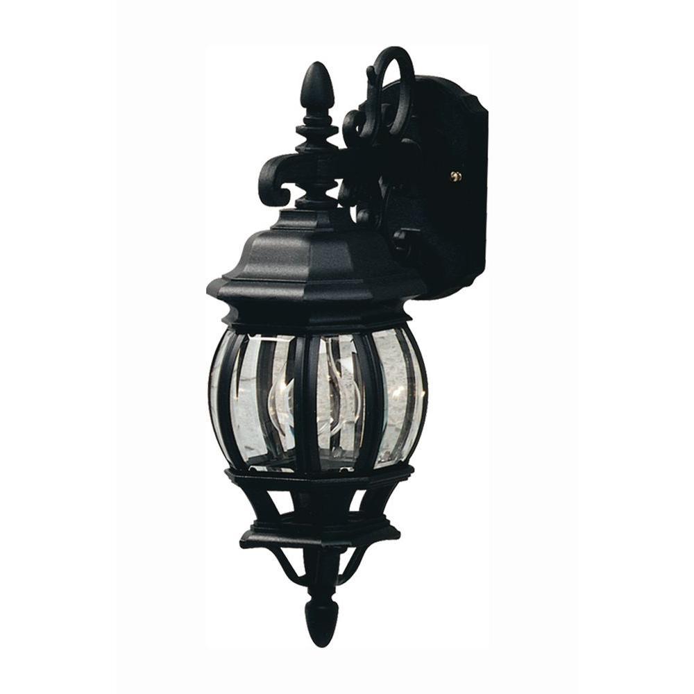 Sergej 1-Light Black Outdoor Wall Lantern Sconce