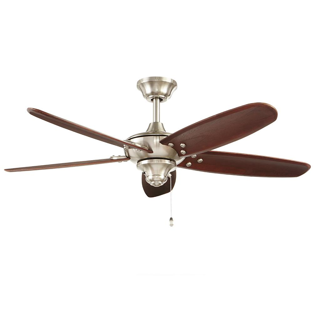 Home Decorators Collection Altura 48 In. Indoor/Outdoor Brushed Nickel Ceiling  Fan