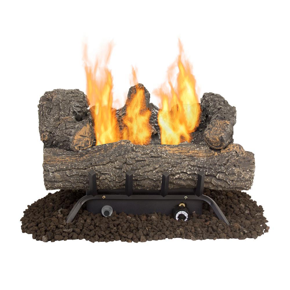 Ventless Gas Fireplace Logs Gas Logs The Home Depot
