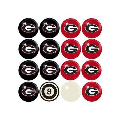 University Of Georgia Home Versus Away Billiard Ball Set