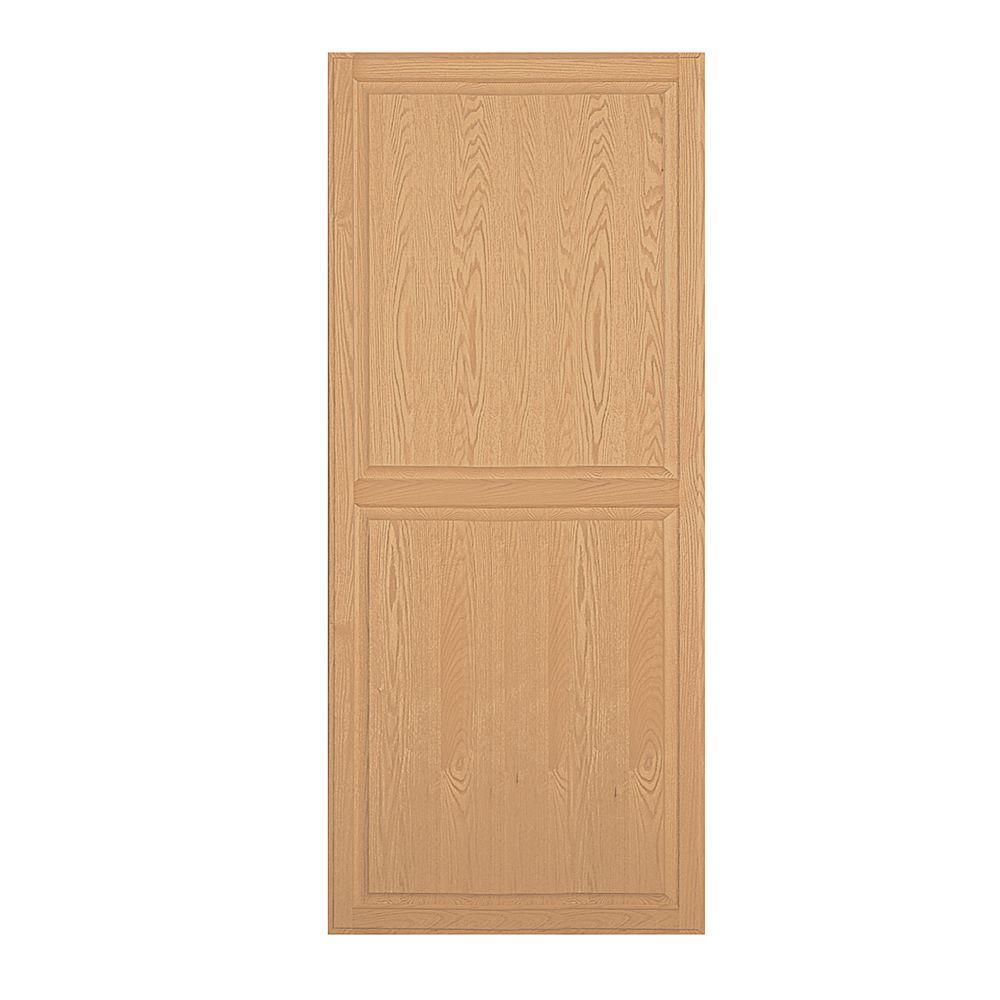Solid Oak Double End Side Panel for 18 in. D Executive Wood Locker in Light Oak
