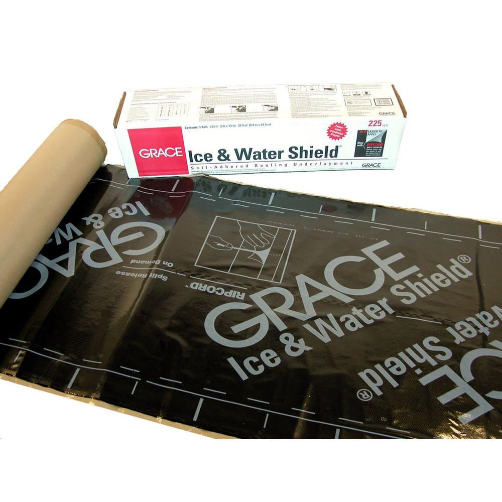 GCP Applied Technologies 36 in  x 75 ft  (225 sq  ft ) Ice and Water Shield  Roll Roofing Underlayment in Black