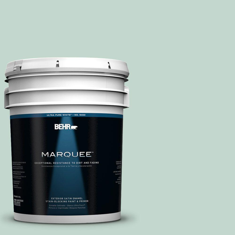 BEHR MARQUEE 5-gal. #470E-3 Aqua Smoke Satin Enamel Exterior Paint