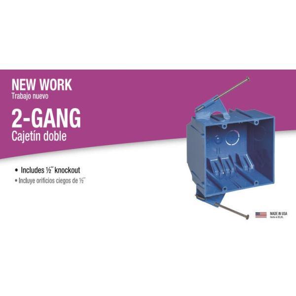 Nail-On 2-Gang Carlon B232ACP Outlet Box