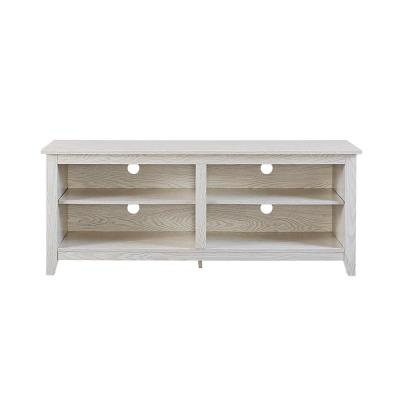 Essentials White Wash Storage Entertainment Center