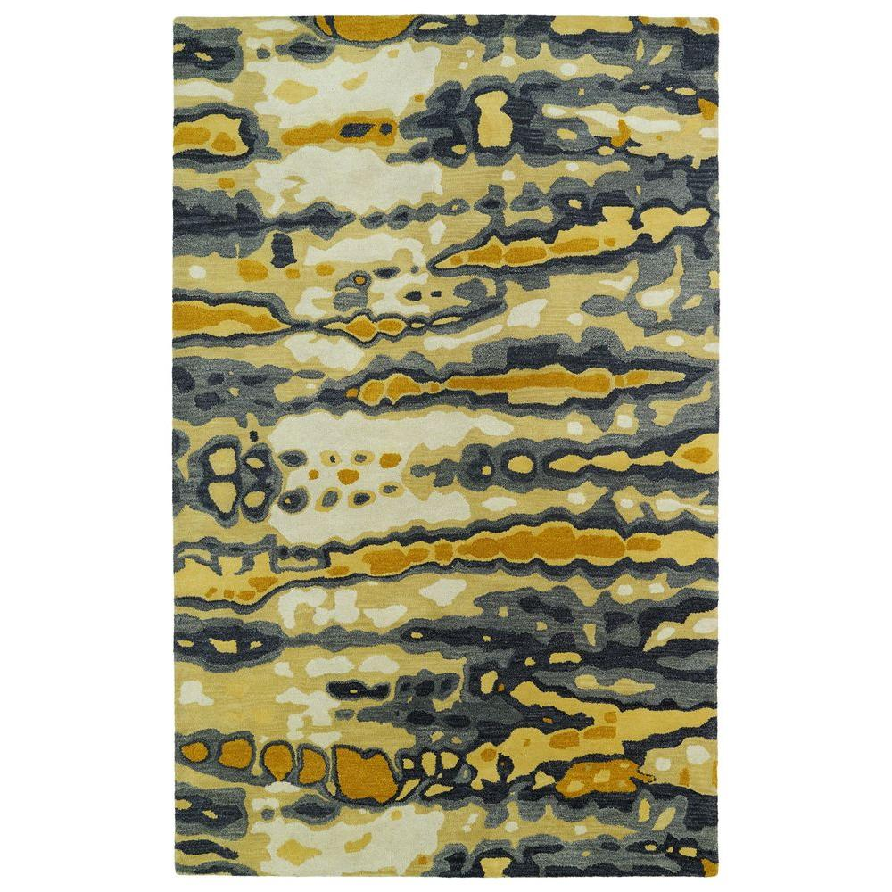 Brushstrokes Gold 9 ft. 6 in. x 13 ft. Area Rug