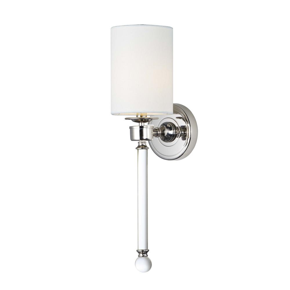 Maxim Lighting Lucent 5 in. Wide Polished Nickel Sconce