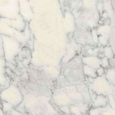 5 ft. x 12 ft. Laminate Sheet in Marmo Bianco Premium Textured Gloss