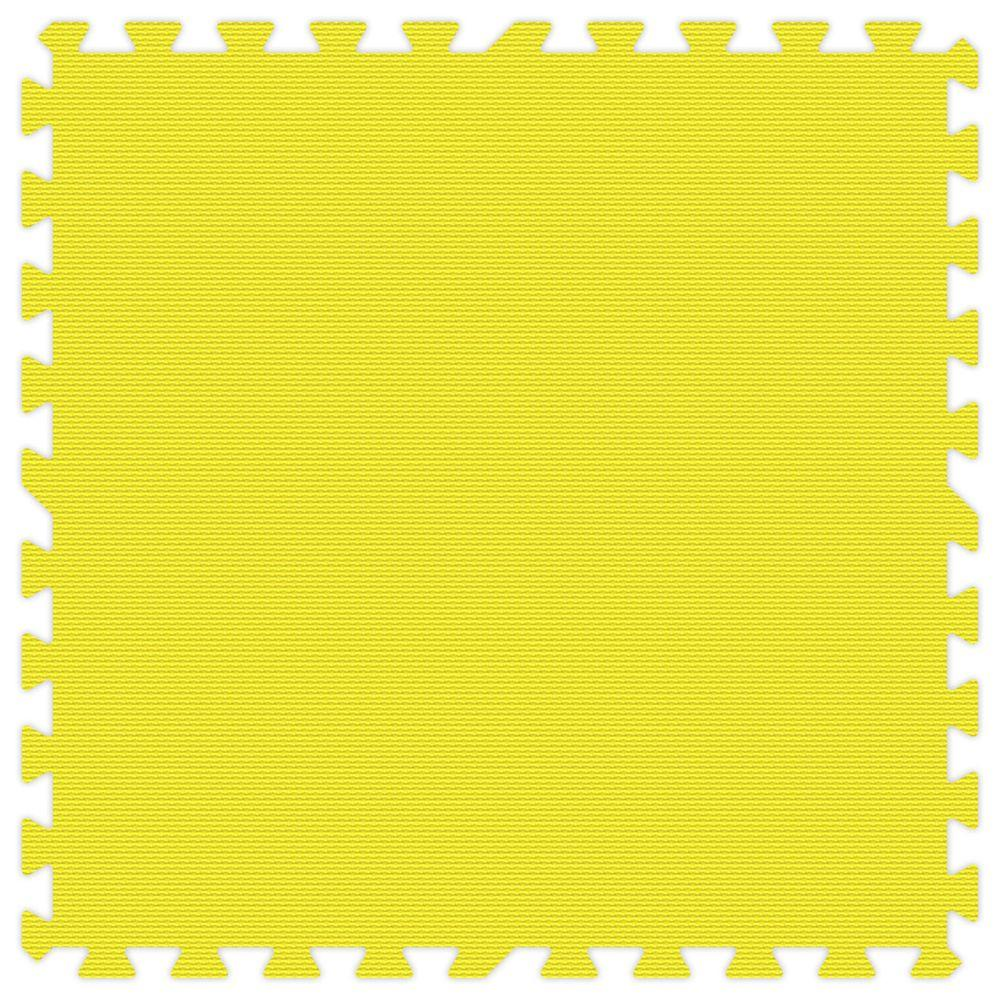 Groovy Mats Yellow 24 in. x 24 in. Comfortable Mat (100 sq.ft. / Case)