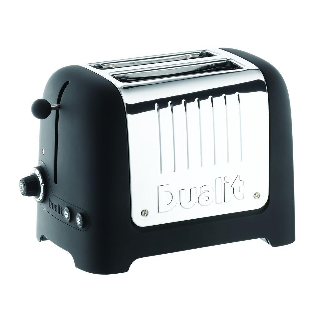 Dualit Lite Commercial Toaster 2-Slice Toaster Black Soft Touch