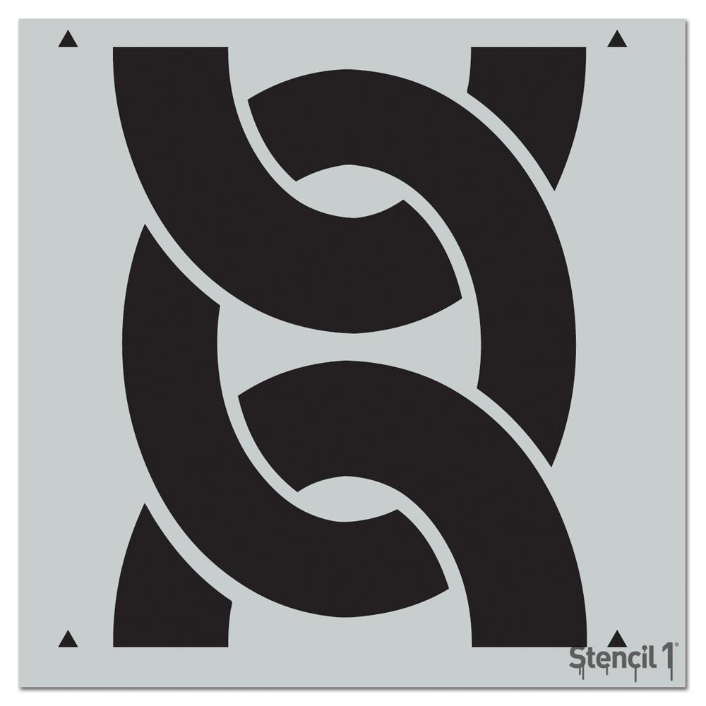 Stencil1 Bold Chain Repeat Pattern Stencil-S1_PA_23 - The Home Depot