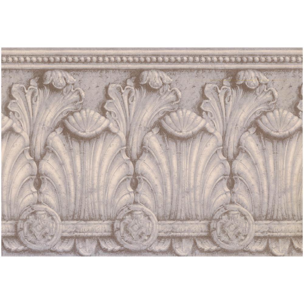York Wallcoverings Victorian Baroque Coconut White Black
