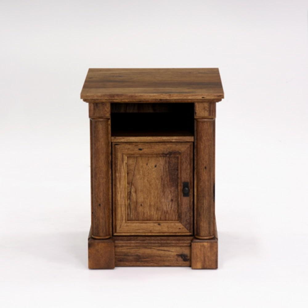 SAUDER Palladia Collection Vintage Oak 1 Door End Side Table