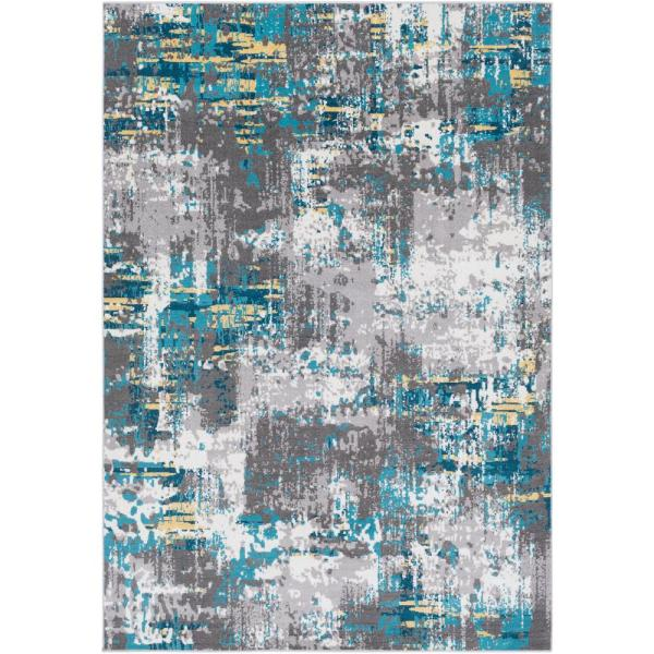 Arboleas Teal 8 ft. x 10 ft. Area Rug