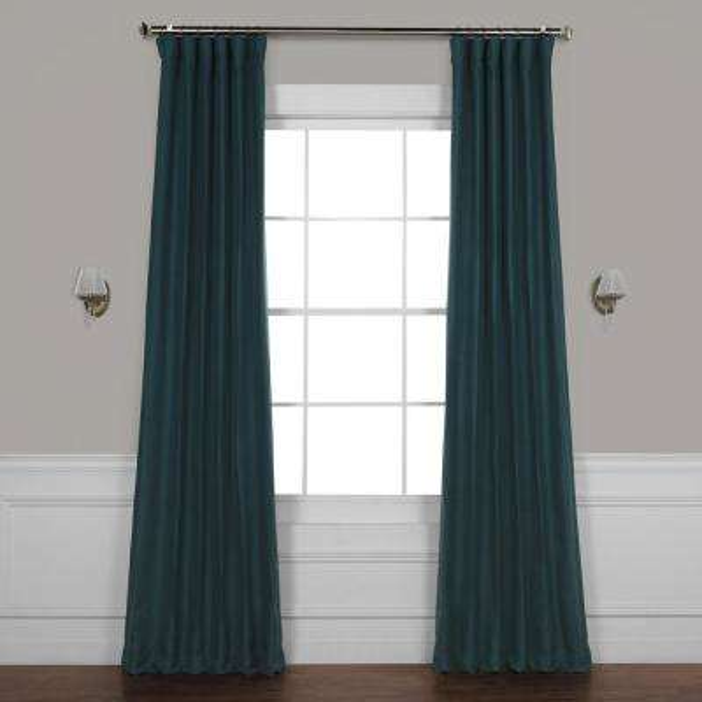 Bayberry Teal Blue Bellino Blackout Room Darkening Curtain - 50 in. W x 96 in. L