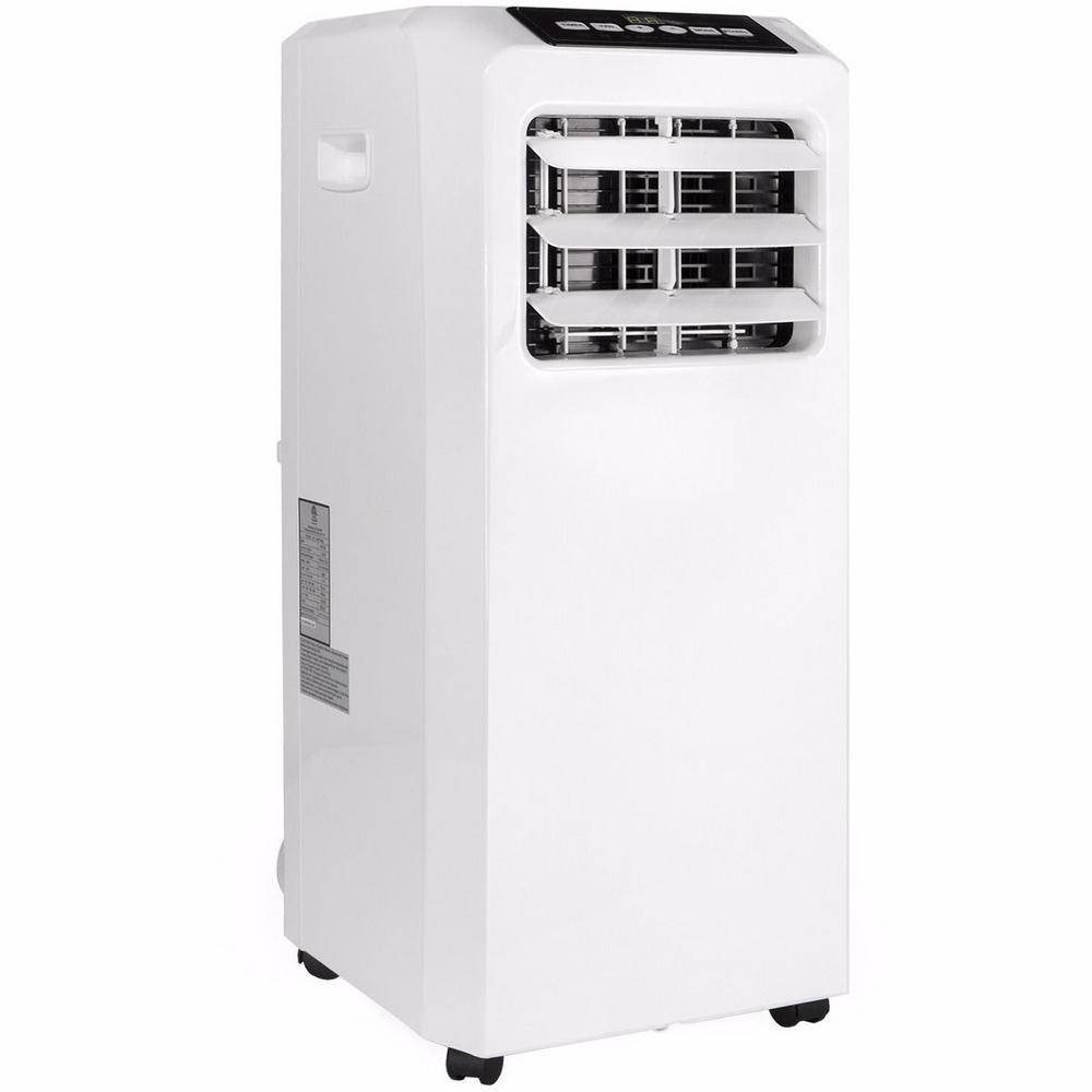 Barton 8 000 Btu Doe 3 In 1 Portable Air Conditioner A C Unit With Dehumidifier Fan And Remote In White 99913 H1 The Home Depot