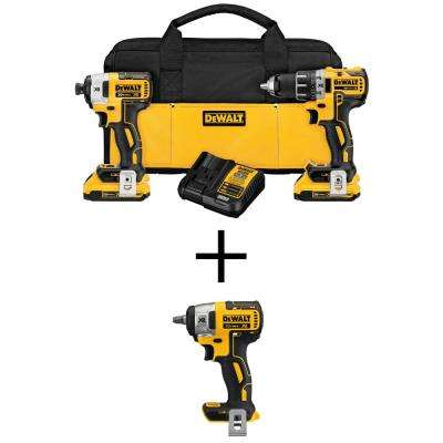 20-Volt MAX XR Lithium-Ion Cordless Brushless Drill/Impact Combo Kit (2-Tool) w/ Bonus 3/8 in. Impact Wrench (Tool-Only)
