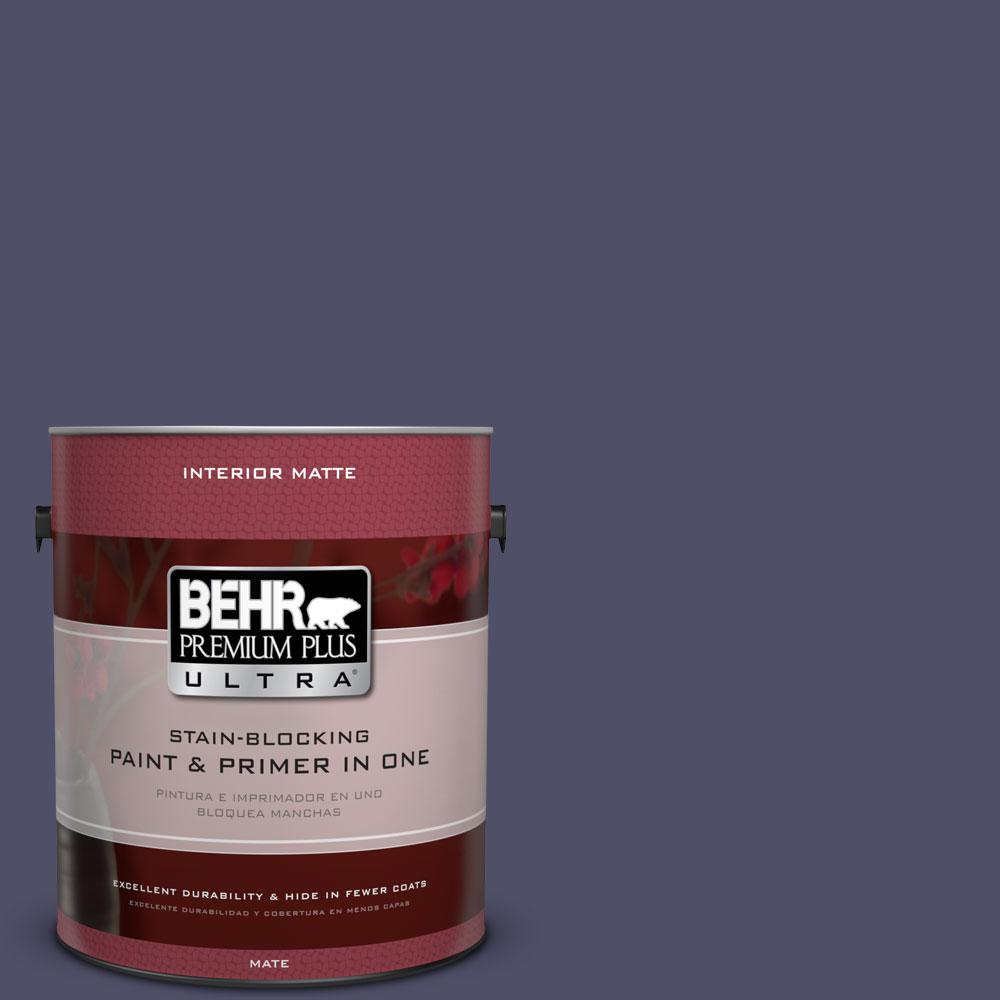 1 gal. #640F-7 Academy Purple Flat/Matte Interior Paint