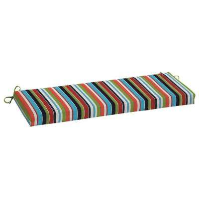 45 x 15 outdoor bench cushion in sunbrella carousel confetti - Patio Bench Cushions