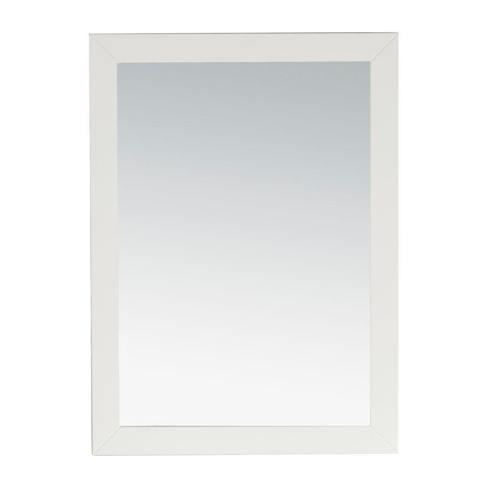 w wall mirror in white - Mirror With White Frame