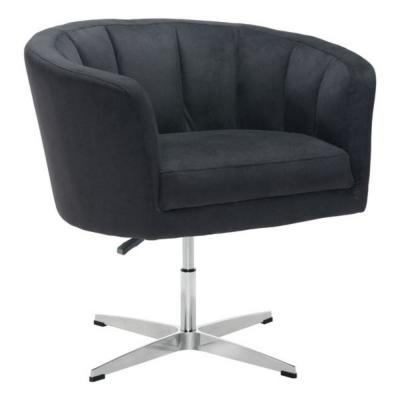 HomeRoots Julia Black Cashmere Occasional Chair